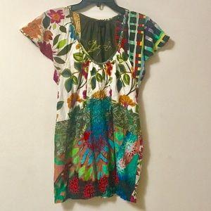 Desigual Floral Short Sleeve Top
